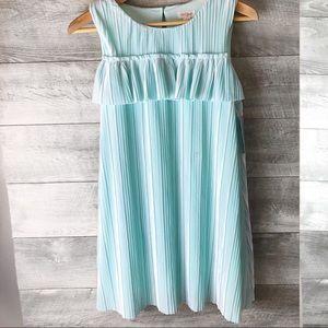 Cat & Jack girls blue velvet ruffle tent dress